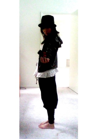 f21 hat - aa jacket - from Korea shirt - Thomas Wylde pants
