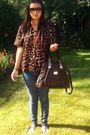 Brown-blouse