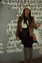 h&m divided jacket - H&M Trend blouse - H&M divided blk dress - Zara boots - Ale
