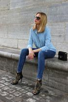 navy Zara jeans - black Zara bag - black Prada sunglasses