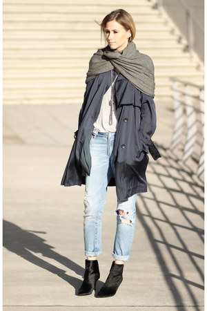 H&M scarf - Zara boots - 31 Phillip Lim coat - Zara jeans - asos shirt