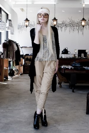 headband No A scarf - Kill City cardigan - PROENZA SCHOULER wedges