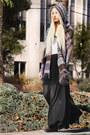 Brown-wanted-shoes-beige-tank-top-enza-costa-shirt-black-maxi-romwe-skirt