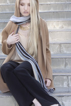 vince coat - Missoni scarf - vince blouse - vintage necklace