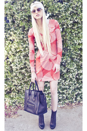 Guiseppe Zanotti boots - dvf dress - Celine bag - Mosely Tribes sunglasses