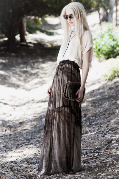 light purple raquel allegra skirt - gray Helmut Lang bag - black dita sunglasses