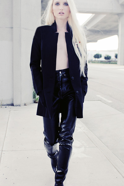 black unknown pants - black H&M blazer