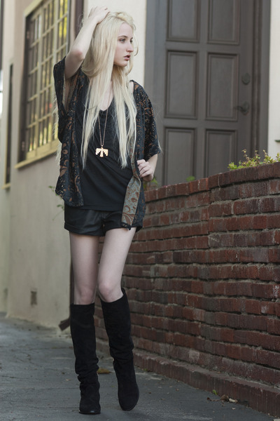Erin Wasson x Low Luv necklace - Prada boots - Billabong shorts