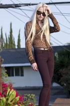 BCBG blouse - Rag and Bone jeans - Ralph Lauren belt - Via Spiga heels