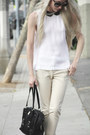 Black-ysl-bag-alexander-mcqueen-sunglasses-beige-zara-pants-white-alc-blou