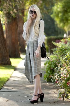 ever skirt - holiday frame dita sunglasses - ever blouse - Via Spiga heels