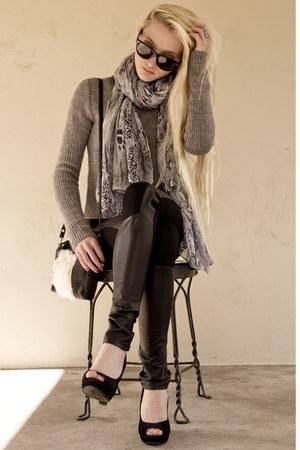 leather Helmut Lang leggings - Alexander Wang sweater