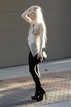 Sheinside boots - Helmut Lang sweater - leather Helmut Lang leggings