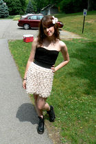 pink accessories - pink Target skirt - black thrifted top - black Dr Martens sho