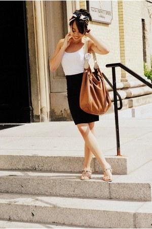 vintage scarf - Target bag - Forever 21 skirt - Forever 21 top