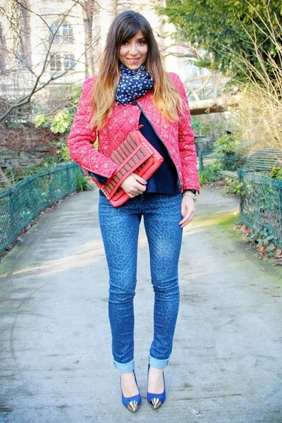 blue slim léopard mim jeans - hot pink Isabel Marant jacket