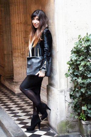 black PROENZA SCHOULER boots - black Heimstone jacket - black sarenza bag