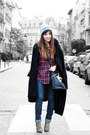 Tan-sam-edelman-boots-black-topshop-coat-ruby-red-by-monshowroom-shirt