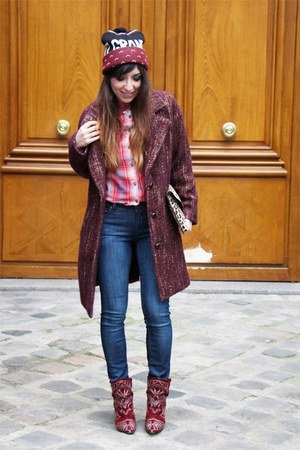 red Ralph Lauren shirt - crimson Isabel Marant boots