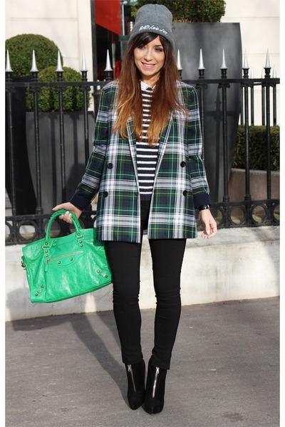 black PROENZA SCHOULER boots - dark green SUNO coat