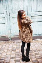 black fringed ASH boots - tan leopard print By Monshowroom coat