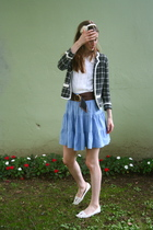 Urban Outfitters sweater - H&M skirt - vintage blouse