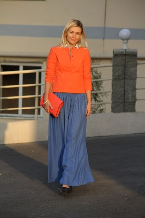carrot orange Zara jacket - carrot orange Zara bag