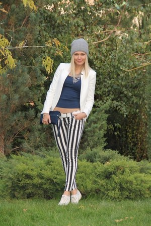 white ysatis jeans - white Zara jacket - white Keds sneakers