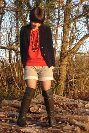 Naf Naf jacket - camaieu t-shirt - camaieu shorts - market of France shoes - Fre