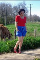 H&M top - H&M shorts - ANDRE shoes - Oh My Shop necklace