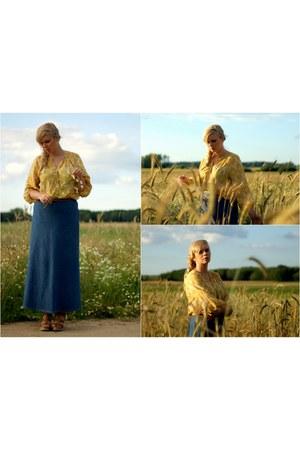 mustard H&M blouse
