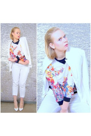 white PERSUNMALL blouse