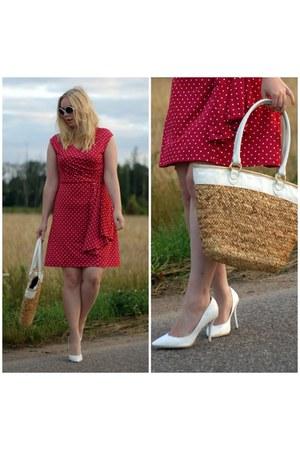 ruby red BonPrix dress