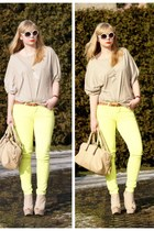 yellow New Yorker pants