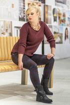 crimson New Yorker sweater