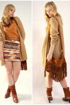 camel Cubus sweater - eggshell straduvarius skirt