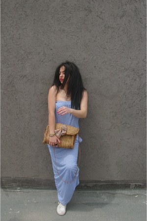 zara dress - pull and bear bag - sunglasses - pulla and bear ring - top shop sne