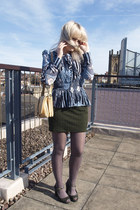 heather gray grey tights Topshop tights - eggshell vintage bag The Attic People