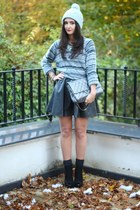 bobble hat H&M hat - H&M sweater - charcoal gray Chanel bag