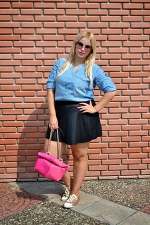 Stradivarius skirt - H&M shoes - xlcloset shirt