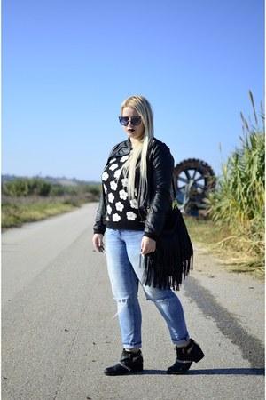 Bershka boots - Bershka jacket - Primark sweater