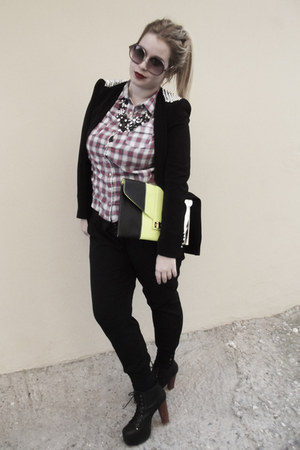 Zara blazer - Jeffrey Campbel boots - Zara shirt - BSK bag