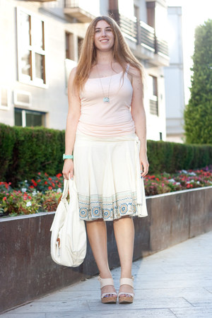 light pink H&M top - white Margarita Green bag - light pink Laocoonte heels