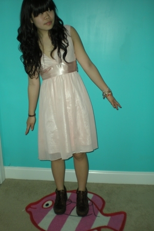 forever 21 dress - bracelet - shoes