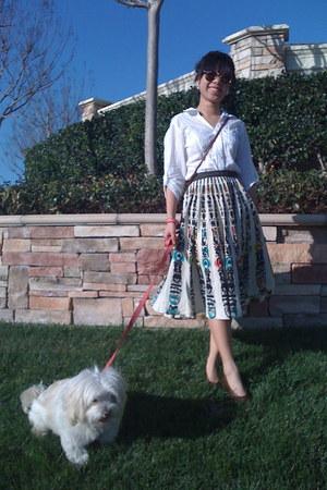vintage skirt - vintge heels