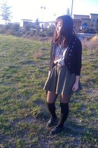 lace up oxfords Aldo shoes - striped vintage shirt - H&M skirt