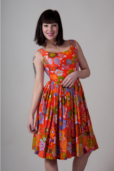 orange vintage from Market Publique dress