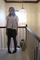 Hanes shirt - forever 21 skirt - forever 21 socks - forever 21 accessories - thr