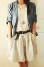 Sky-blue-chambray-japan-blazer-charcoal-gray-bip-bop-necklace