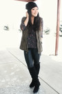 Olive-green-cargo-forever-21-vest-black-knee-high-wedge-shoe-dazzle-boots
